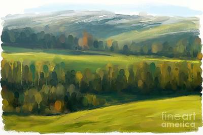 Art Print featuring the painting Rich Landscape by Ivana Westin