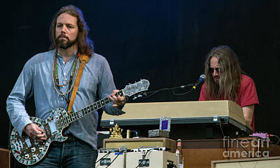 Rich Robinson And Adam Macdougall With The Black Crowes Print by David Oppenheimer