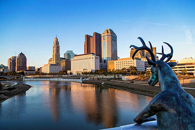 Photograph - Rich Street Bridge Columbus by Alan Raasch