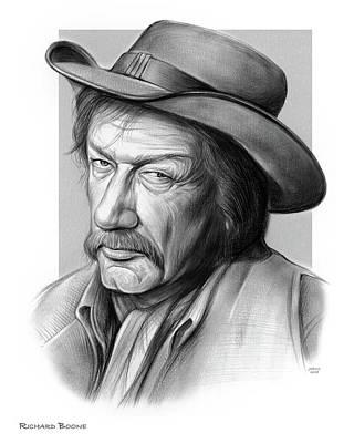 Drawings - Richard Boone 3 by Greg Joens