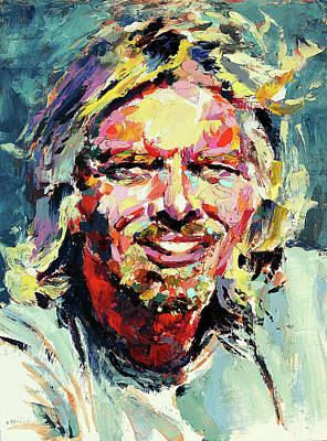 Derek Russell Wall Art - Painting - Richard Branson by Derek Russell
