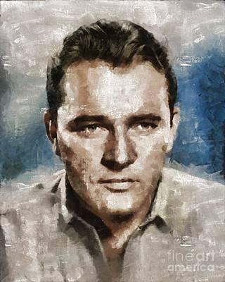 Richard Burton Hollywood Actor Art Print by Mary Bassett