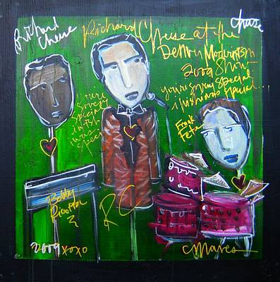 Painting - Richard Cheese Live At The Denver Modernism Show by Laurie Maves ART
