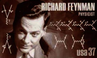 Feynman Painting - Richard Feynman by Lanjee Chee