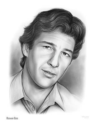 Drawings Rights Managed Images - Richard Gere Royalty-Free Image by Greg Joens