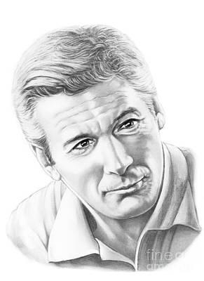 Famous People Drawing - Richard Gere by Murphy Elliott