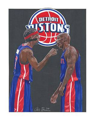 Mixed Media - Richard Hamilton And Chauncey Billups by Chris Brown