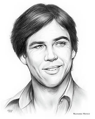 Drawings - Richard Hatch by Greg Joens