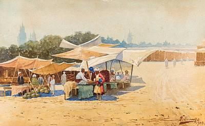 Personalized Name License Plates - RICHARD KARLOVICH ZOMMER  RUSSIAN 1866 1939  Watermelon Sellers, Bukhara, 1903 by Artistic Panda