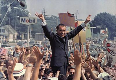 1960s Fashion Photograph - Richard M. Nixon Campaigning by Everett
