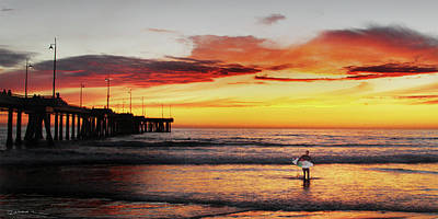 Photograph - Venice Beach Sunset  by Richard Mann