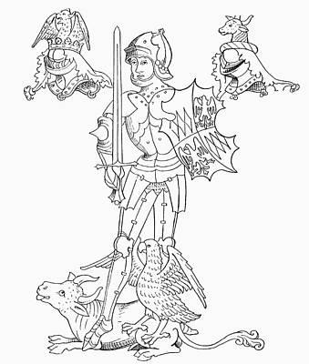 Richard Neville, 16th Earl Of Warwick Print by Vintage Design Pics