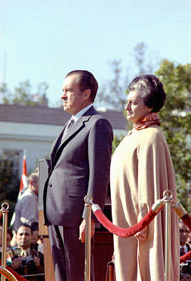 Photograph - Richard Nixon And Indira Gandhi by Granger