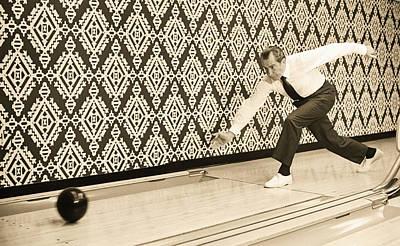Lebowski Photograph - Richard Nixon Bowling by Bill Cannon