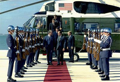 Photograph - Richard Nixon by Granger