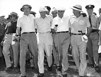 Former Senators Photograph - Richard Nixon Playing Golf by Underwood Archives