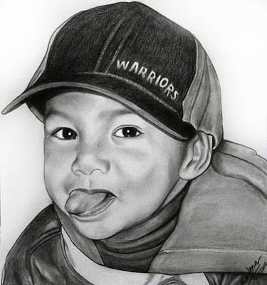 Portrait Drawing - Richard by Shafina Noor