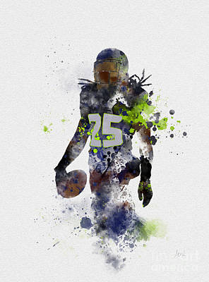 Richard Sherman Art Print by Rebecca Jenkins