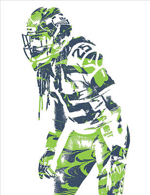 Seattle Mixed Media - Richard Sherman Seattle Seahawks Pixel Art 10 by Joe Hamilton