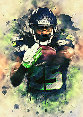 Painting - Richard Sherman by Taylan Apukovska