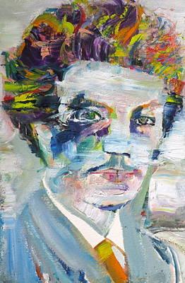 Painting - Richard Strauss - Oil Portrait by Fabrizio Cassetta