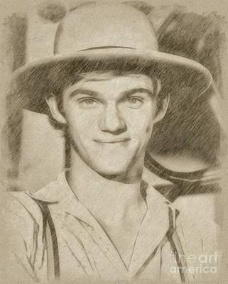 Fantasy Drawings - Richard Thomas, John Boy from The Waltons by Frank Falcon