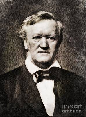 Wagner Painting - Richard Wagner, Composer By John Springfield by John Springfield