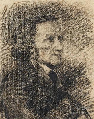 Drawing - Richard Wagner  by Pierre Auguste Renoir