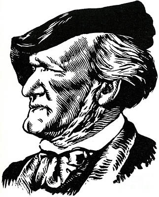 Drawing - Richard Wagner Portrait By Felix Edouard Vallotton by Felix Edouard Vallotton