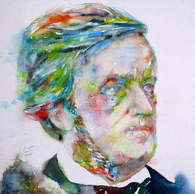 Painting - Richard Wagner - Watercolor Portrait.3 by Fabrizio Cassetta