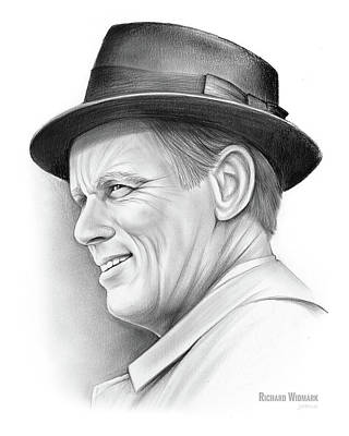 Drawing - Richard Widmark by Greg Joens