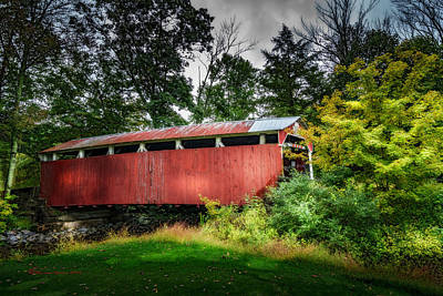 Old Wood Building Photograph - Richards Covered Bridge by Marvin Spates