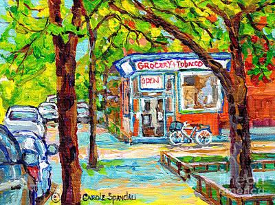 Painting - Richardson Depanneur Pointe St Charles Canadian Art Canadian Artist C Spandau Summer Scenes          by Carole Spandau