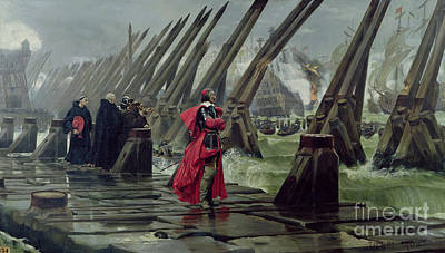 Clergy Painting - Richelieu by Henri-Paul Motte