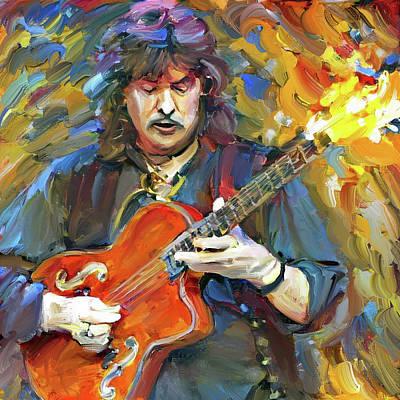 Digital Art - Richi Blackmore Deep Purple Portrait 1 by Yury Malkov