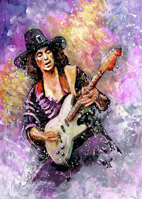 Painting - Richie Blackmore by Miki De Goodaboom