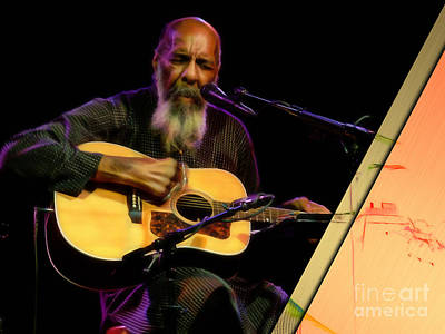 Richie Havens Collection Art Print by Marvin Blaine