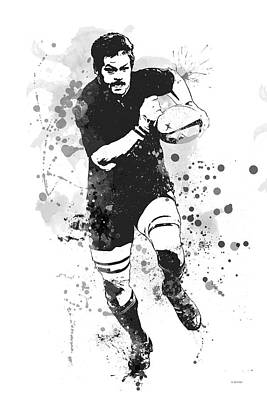 Digital Art - Richie Mccaw by Marlene Watson