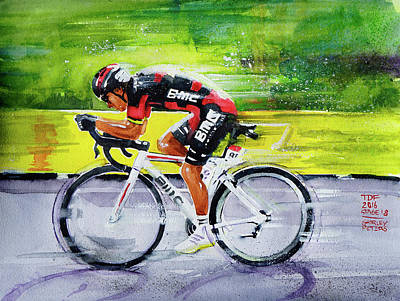 Richie Porte Art Print by Shirley Peters