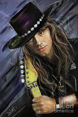 Heather Painting - Richie Sambora by Melanie D