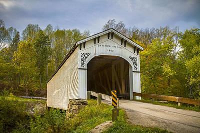 Richland Creek Covered Bridge Art Print by Jack R Perry