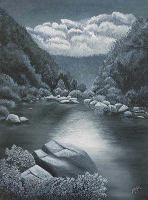Painting - Richland Creek In Arkansas Ozarks by Garry McMichael