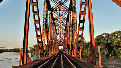 Photograph - Richmond Brazos River Bridge by Nathan Little