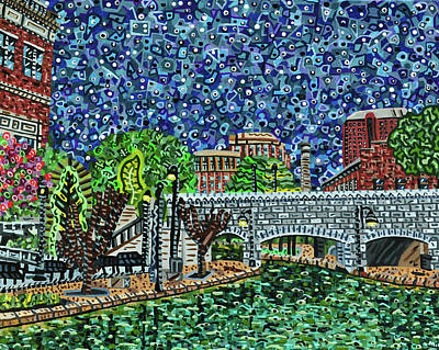 Painting - Richmond Canal Walk by Micah Mullen
