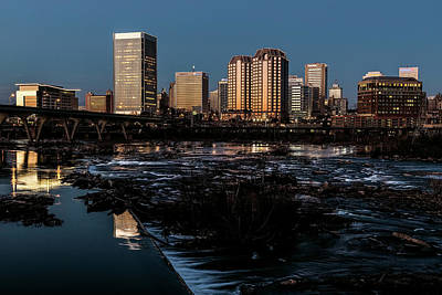 Photograph - Richmond Christmas Evening Skyline  by Jemmy Archer