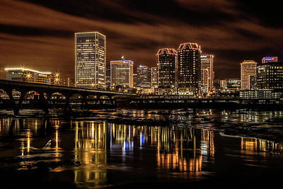 Photograph - Richmond Christmas Skyline by Jemmy Archer