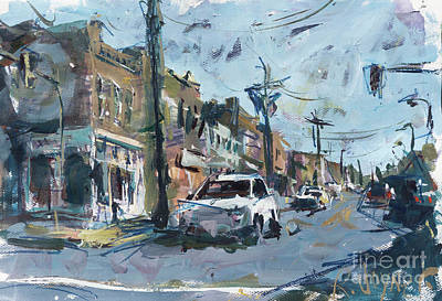 Painting - Richmond Cityscape Painting - Carytown by Robert Joyner