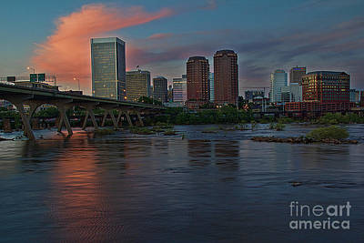 Richmond Dusk Skyline Art Print