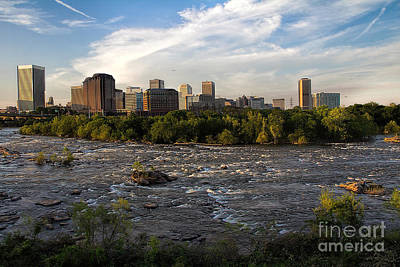 Photograph - Richmond Evening Skyline by Jemmy Archer