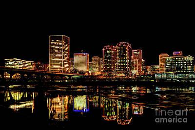 Photograph - Richmond Grand Illumination 3210742_hdrt by Doug Berry